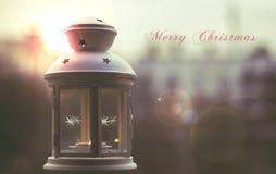 Fröhliches Christams und guten Rutsch ins Neue Jahr Lizenzfreies Stockbild