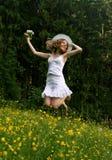 Fröhliches junges Mädchen Stockfoto