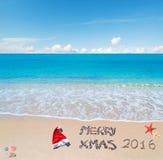 Fröhliches sandiges Weihnachten 2016 Lizenzfreie Stockfotos