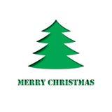 Fröhliches Weihnachtsbaumpapier herausgeschnitten Lizenzfreie Stockbilder