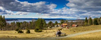 Frösön Östersund. View over the lake from Frösön in Östersund in Sweden Stock Photos