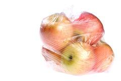 Früchte, Apple im Paket Lizenzfreies Stockfoto