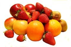 Früchte auf einem weißen Hintergrund Stockbild