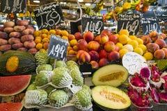 Früchte Barcelonas Boqueria Lizenzfreies Stockfoto