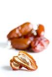Früchte der getrockneten Datteln Stockfotos