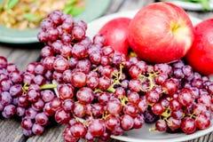 Früchte der roten Traube Stockfotos