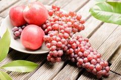 Früchte der roten Traube Stockbild
