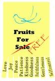 Früchte des Heiliger Geist Stockbilder