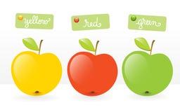 Früchte-drei Äpfel Lizenzfreie Stockbilder