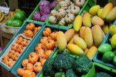 Früchte im Behälter stockfoto