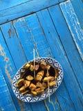 Früchte mit Soße Lizenzfreie Stockbilder