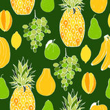 Früchte Nahtloses vektormuster Stockfoto