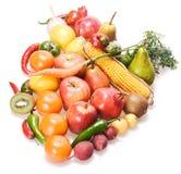 Früchte u. Gemüse lizenzfreie stockfotografie