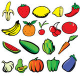 Früchte u. Veges Stockbild