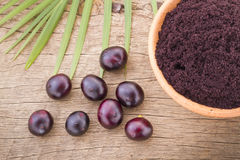 Früchte und acai powde Stockfotos