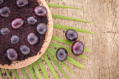 Früchte und acai powde Lizenzfreies Stockfoto