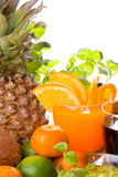 Früchte und Getränke lizenzfreie stockfotos