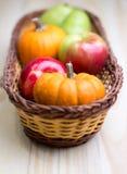 Früchte und Kürbise Lizenzfreies Stockfoto