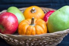 Früchte und Kürbise Lizenzfreie Stockfotografie