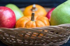 Früchte und Kürbise Stockfotografie