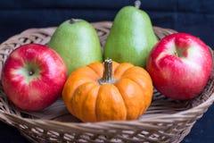 Früchte und Kürbise Lizenzfreies Stockbild