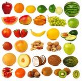 Früchte und nuts Ansammlung Lizenzfreie Stockbilder