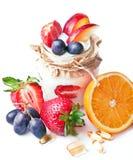 Früchte und Pillen Stockfotografie