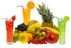 Früchte und Saft Stockbilder