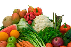 Früchte und Veggies Lizenzfreie Stockfotos