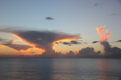 Früher Abend in Antigua u. in Barbuda Lizenzfreies Stockfoto