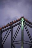 Früher Abend-Brücken-Aufstieg Stockfoto