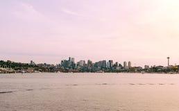 Früher Abend in Seattle stockbild