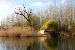 Früher Frühling auf dem Fluss Lizenzfreies Stockfoto