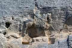 Früher mittelalterlicher Felsenentlastung Madara-Reiter vom Zeitraum des ersten bulgarischen Reiches, UNESCO-Weltkulturerbeliste, Lizenzfreie Stockfotos