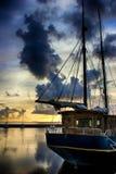 Früher Morgen auf einem Pier lizenzfreies stockbild