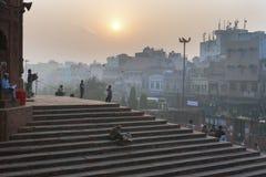 Früher Morgen bei Jama Masjid, Delhi, Indien Stockfotos