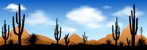 Früher Morgen in der Wüste Stockbild