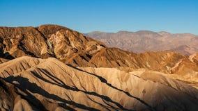 Früher Morgen des Sommers an Zabriskie-Punkt, Nationalpark Death Valley, Kalifornien stockbild