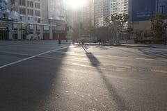 Früher Morgen im LA stockfoto