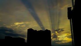 Früher Morgen in im Stadtzentrum gelegenem Austin Stockbild