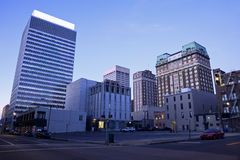 Früher Morgen in im Stadtzentrum gelegenem Memphis Lizenzfreie Stockfotografie