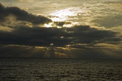 Früher Morgen-Leuchte, Acadia NP Lizenzfreies Stockbild
