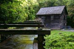 Früher Morgen an Mingus-Mühle im Großen rauchiger Gebirgsnationalpark lizenzfreies stockbild