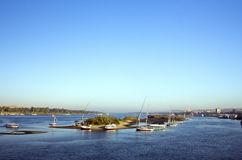 Früher Morgen Nil-Szene Lizenzfreie Stockfotos