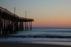 Früher Morgen am Pier Stockfoto