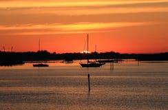 Früher Morgen-Segeln in Sarasota, Florida Lizenzfreies Stockbild