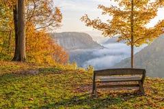 Früher Morgen-Sonnenaufgang am Letchworth-Nationalpark Lizenzfreie Stockbilder