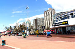 Früher Morgen-Strand-Front in Durban Südafrika Stockfotos
