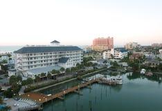 Früher Morgen von clearwater in Tampa stockbild