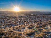 Früher Morgenspaziergang im Pentlands Stockbild